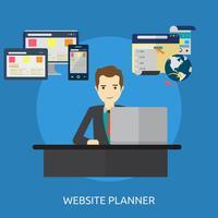 Progettazione concettuale dell'illustrazione del pianificatore del sito Web