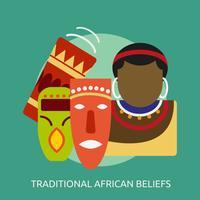 Progettazione concettuale dell'illustrazione di credenze africane tradizionali
