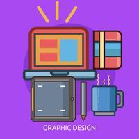 Progettazione dell'illustrazione concettuale di progettazione grafica
