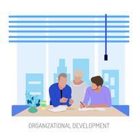 Progettazione concettuale dell'illustrazione di sviluppo organizzativo senior vettore