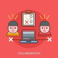 Progettazione dell'illustrazione concettuale di collaborazione