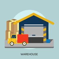 Progettazione dell'illustrazione concettuale del magazzino