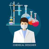 Progettazione concettuale dell'illustrazione del progettista chimico