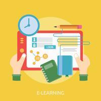Progettazione concettuale dell'illustrazione di e-learning
