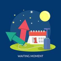 Disegno concettuale dell'illustrazione di attesa del momento