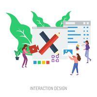 Progettazione concettuale dell'illustrazione di progettazione di interazione vettore