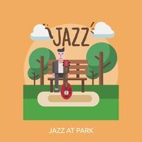 Progettazione concettuale dell'illustrazione di Jazz At Park