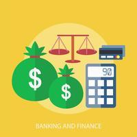 Progettazione dell'illustrazione concettuale di attività bancarie e finanziarie