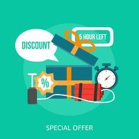 Disegno dell'illustrazione concettuale di offerta speciale