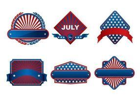 Pacchetto di banner vettoriale del quarto di luglio