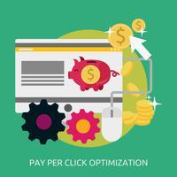 Disegno concettuale dell'illustrazione di Opimization di paga per clic vettore
