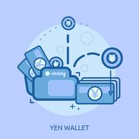 Progettazione concettuale dell'illustrazione del portafoglio del dollaro vettore