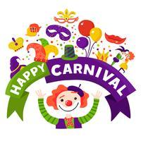 Manifesto di composizione festosa celebrazione Carnevale