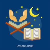 Progettazione concettuale dell'illustrazione di Laylatul Qadr