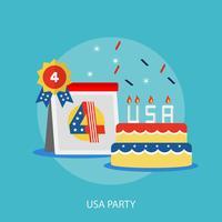 Progettazione concettuale dell'illustrazione del partito di USA