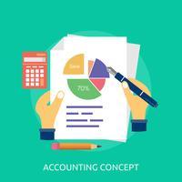 Progettazione dell'illustrazione concettuale di concetto di contabilità