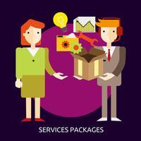Progettazione concettuale dell'illustrazione del pacchetto di servizi