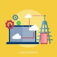 Progettazione concettuale dell'illustrazione di servizi della nuvola vettore