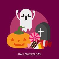 Disegno concettuale dell'illustrazione di giorno di Halloween vettore