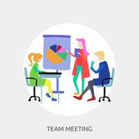 Progettazione concettuale dell'illustrazione di Team Meeting