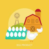 Progettazione concettuale dell'illustrazione del prodotto dell'uovo