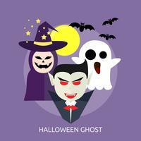 Disegno concettuale dell'illustrazione del fantasma di Halloween vettore