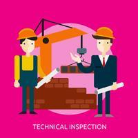 Progettazione concettuale dell'illustrazione dell'ispezione tecnica