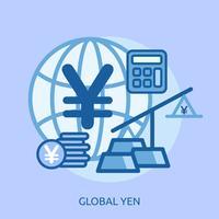 Euro globale concettuale illustrazione design vettore