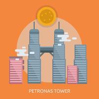Progettazione concettuale dell'illustrazione della torre di Petronas
