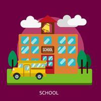Disegno dell'illustrazione concettuale della scuola