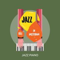 Progettazione dell'illustrazione concettuale del piano di jazz
