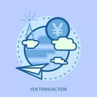 Progettazione concettuale dell'illustrazione di transazione di Bitcoin vettore