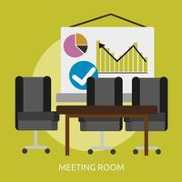Progettazione concettuale dell'illustrazione della sala riunioni vettore
