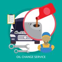 Progettazione concettuale dell'illustrazione di servizio del cambio dell'olio
