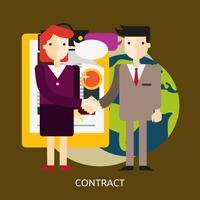 Progettazione concettuale dell'illustrazione del contratto