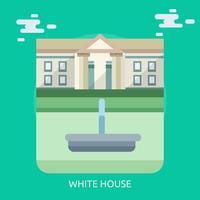 Progettazione dell'illustrazione concettuale della Casa Bianca