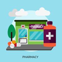 Progettazione dell'illustrazione concettuale della farmacia vettore