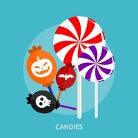 Progettazione concettuale dell'illustrazione delle caramelle