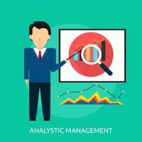 Progettazione concettuale dell'illustrazione della gestione analitica vettore