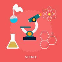 Disegno dell'illustrazione concettuale di scienza