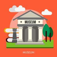 Disegno dell'illustrazione concettuale del museo vettore