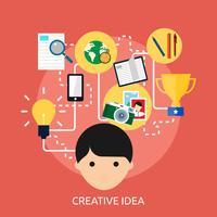 Progettazione concettuale dell'illustrazione di idea creativa vettore