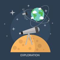 Progettazione dell'illustrazione concettuale di esplorazione vettore