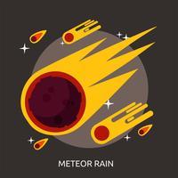 Progettazione concettuale dell'illustrazione della pioggia della meteora