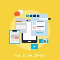 Progettazione concettuale dell'illustrazione di sviluppo mobile vettore