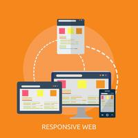Progettazione dell'illustrazione concettuale di web responsive vettore