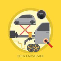 Progettazione concettuale dell'illustrazione di Body Car Service