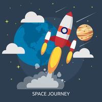 Progettazione dell'illustrazione concettuale di viaggio dello spazio