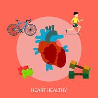 Progettazione dell'illustrazione concettuale sana del cuore