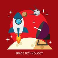 Progettazione concettuale dell'illustrazione di tecnologia dello spazio